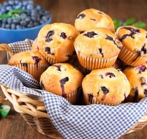 Przepis na muffinki z jagodami
