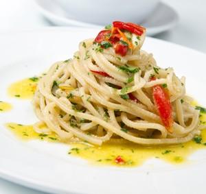 Spaghetti aglio oglio