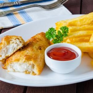 Przepis na rybę - ryba z frytkami